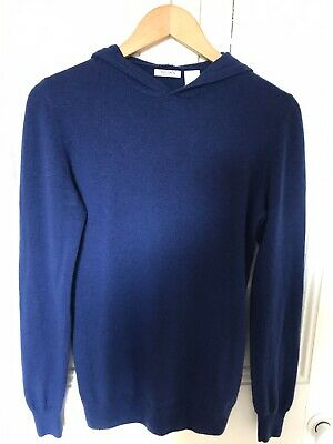 Soft Grey Cashmere Jumper XS In Royal Blue