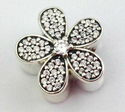 Authentic Sterling Silver PANDORA Dazzling Daisy Bead Charm 791480CZ S925 ALE