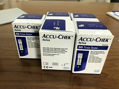 Accu-Chek Aviva Blood Glucose Test Strips (5 boxes) expires 2021-02-28 or later