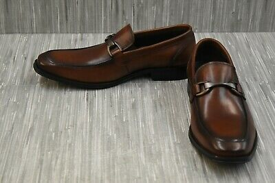 Reaction Kenneth Cole Rest Is History Leather Loafers, Men's Size 7.5 M, Brown