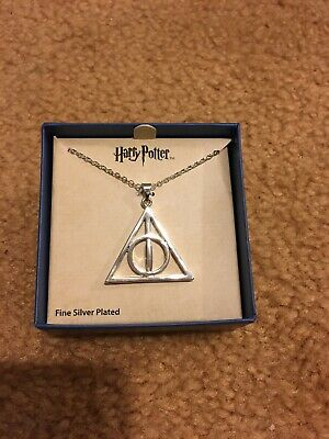 Movie Harry Potter Deathly Hallows Metal Silver Gift Pendant Necklace NEW IN BOX