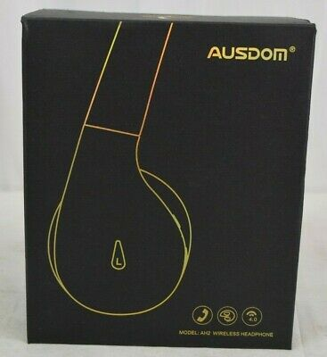 Ausdom AH2 Active Noise Cancelling Bluetooth Headphones - Black / Red - New
