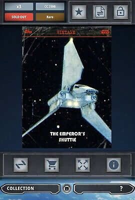Topps Star Wars Card Trader SWCT 2016 The Emperor's Shuttle S2 Series 2 Vintage