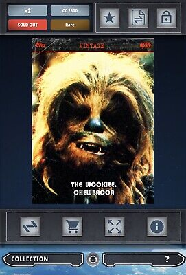 Topps Star Wars Card Trader SWCT 2016 The Wookie. Chewbacca S2 Series 2 Vintage