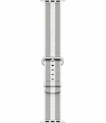 Apple Watch Woven Nylon Pearl Stainless Steel Buckle Band series 1-4