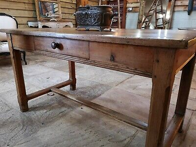 French Antique Pine Farmhouse Table