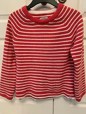 Girls JOULES Pink And White Striped Fleece. Age 11-12years