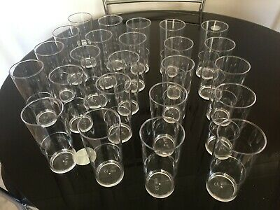 Plastic Pint Beer Glasses - Reusable 1000's of times Unbreakable, Polycarbonate