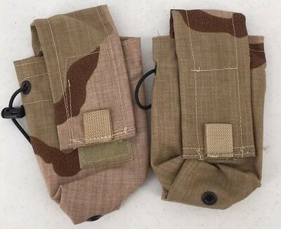Lot of 2 MOLLE II NEW Double 30 Round Mag Pouch FC&T DCU Tricolor Desert Camo