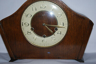 Vintage Smiths Westminster chiming clock. Floating balance type.