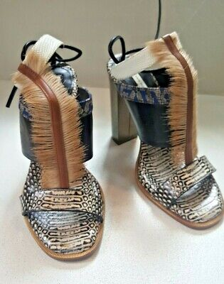 Dries Van Noten Feather Embellished Amazonian T Bar Sandals! 36 1/2 NEW, $700