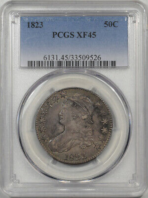 1823 Capped Bust Half Dollar Pcgs Xf-45