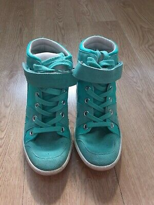 Ladies Superdry green / Turquoise high tops shoes size 4