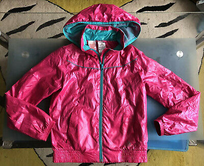 Adidas Girls Water Resistant Pink/Turquoise Jacket Coat Zip Hoddie 11-12 Years