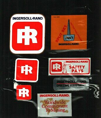 Nice Lot Of 7 Lee Norse-Ingersoll-Rand Coal Mining Stickers # 975