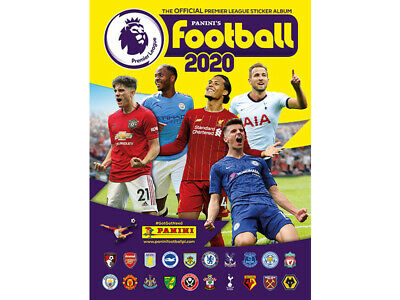 Panini's Football 2020 Official Premier League Sticker Album New Empty