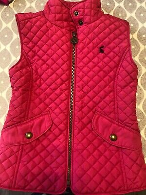 Joules Girls Jilly Warm Quilt Padded Gilet Body Warmer Gilet Pink Age 5
