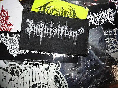 Inquisition Woven Import Patch Thrash Black-Metal Midnight