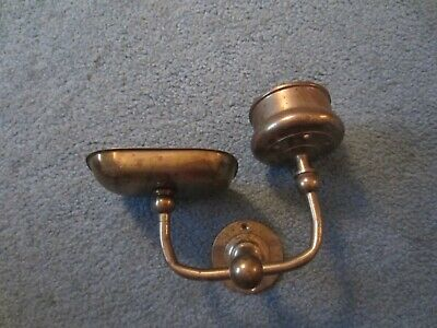 Antique Brass Soap Dish Cup Holder Wall Mount Off Old Boat