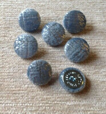 *CLEARANCE* 10 Jade Textured Chenille Upholstery Buttons 30L//19mm Green