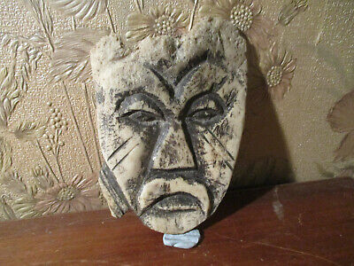 Vintage Authentic African/ORIENTAL  Carving Sculpture/mask '