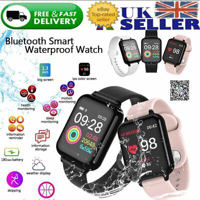 Bluetooth Smart Watch Heart Rate Blood Pressure Sleep Monitor Fitness Tracker UK