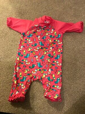 18-24 Months 1 /2 -2 Years Miniclub Girls Toddler Swimming Costume Pink