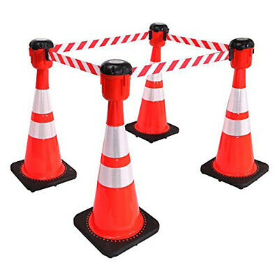Traffic Cone Topper Retractable Barrier Belt-30 Foot belt -Fast Free Shipping