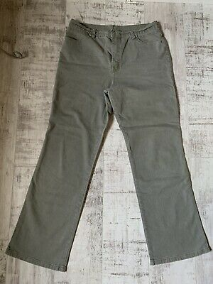 Ladies. Marks & Spencer Jeans. 18 Long. Light Khaki. With Stretch. VGC