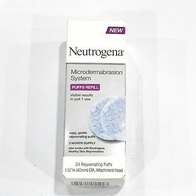 Neutrogena Microdermabrasion System Puffs Refill I Box 24 Each
