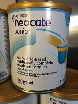 2 + cases Neocate Jr Unflavored- 9 New factory sealed cans-FREE SHIPPING
