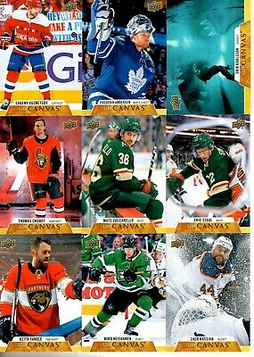 2019-20Upper Deck Canvas Pick you singles lot 2 for $1 flat rate shipping