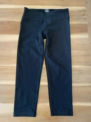 Athleta Girls Leggings Sz 12  Capri Crop Pants Yoga Athletic Stretch Black