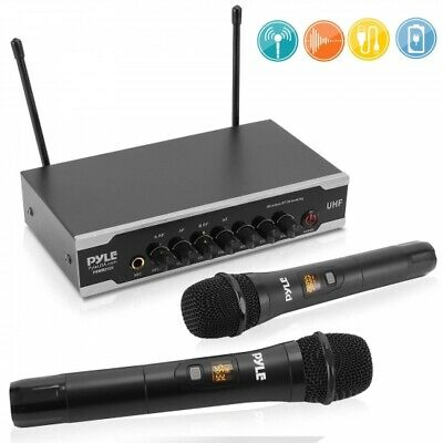 Pyle PDWM2125 Portable UHF Wireless Battery Operated Microphone System