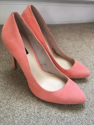 BNWT Faith Pink /'Dodo/' Faux Suede High Stiletto Heel Ankle Strap Sandals Sz 7//40
