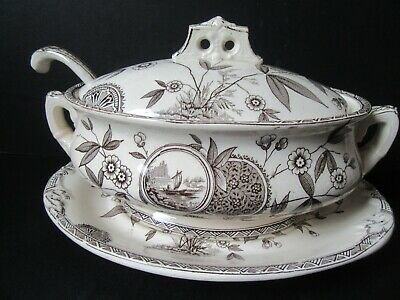 T. Rathbone and co. Peray Brown complete tureen set.