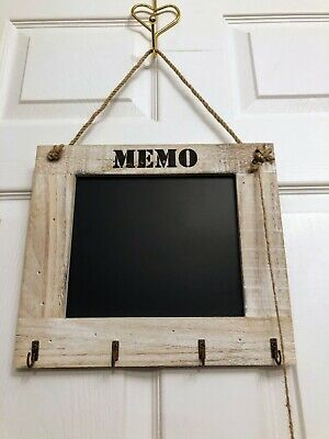 1pcs Double Sided Wooden Blackboard Hanging Chalkboard with String #1
