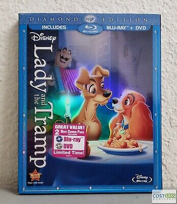 Lady and The Tramp Disney Diamond Edition Blu-Ray + DVD 2 Disc