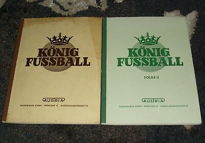 King Foot Ball Follow I+II Austria 1+2 Collector Picture Albums 1952/53 Fully