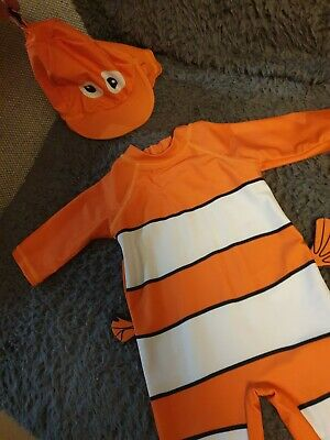 Finding Nemo Sunsuit / Swimsuit With Cap Age 3-6 Months
