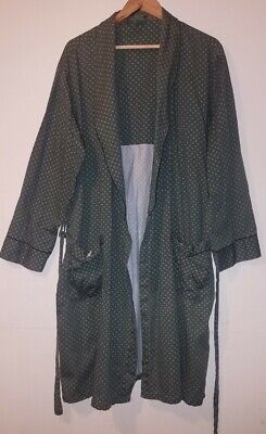 "mens vintage retro dressing gown smoking jacket upto 58"" chest XL"