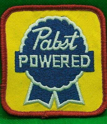 """NEW UNUSED PABST BLUE RIBBON PABST POWERED SEW ON 3""""x 3"""" EMBROIDERED PATCH  PBR"""