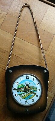 Vintage Dutch Themed Wall Clock. Pristine and in Working Order.
