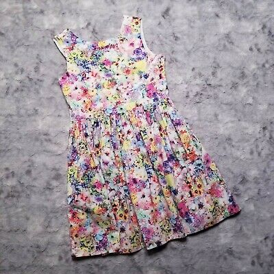 H&M Girl's Dress US Size 10-11Y Sleeveless Cotton Floral