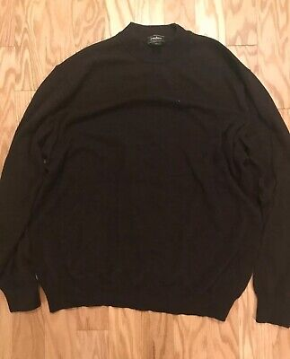 NEIMAN MARCUS Merino Wool Brown Pullover Sweater Made In Italy Size XXL 2XL MINT
