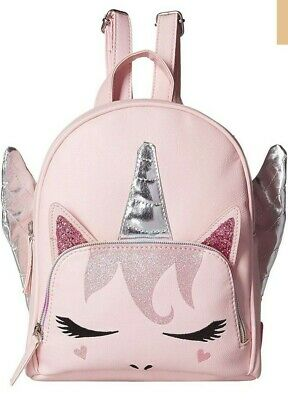 Justice Shimmer UNICORN J Initial Letter Backpack Sequins Holo Hologram NWT NEW