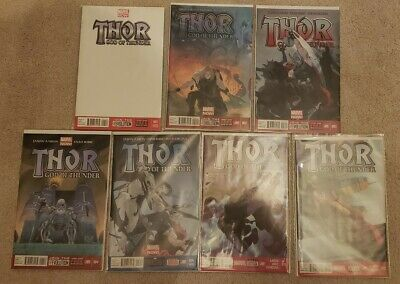 Thor God of Thunder 1 2 3 4 5 11 12 NM 1st Gorr the God Butcher Appearance Aaron