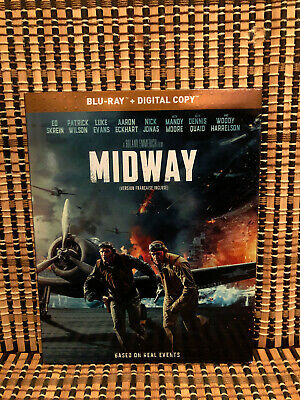 Midway (Blu-ray, 2020)+Slipcover.Roland Emmerich/WWII/War/Woody Harrelson