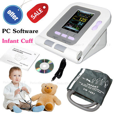 Digital New Born/Infant/Pediatric Blood Pressure Monitor Sphygmomanometer+SW