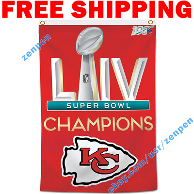 Kansas City Chiefs Champions NFL Super Bowl LIV 2019 2020 Flag Banner 3x5 ft NEW